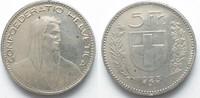Schweiz  EIDGENOSSENSCHAFT 5 Franken 1923 B ALPHIRTE Silber ERHALTUNG! # 95040