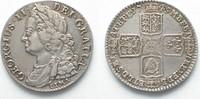England  GROSSBRITANNIEN Shilling 1745 LIMA GEORGE II. Silber ERHALTUNG! # 95214