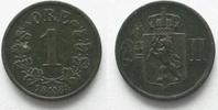 Norwegen  NORWEGEN 1 Ore 1884 OSCAR II. Bronze # 95295