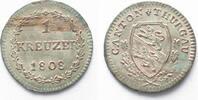 Schweiz - Thurgau  1808 unz/stgl THURGAU 1 Kreuzer