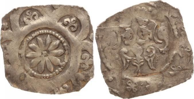 Pfennig 1215-1250 Nürnberg-Reichsmünzstätte Friedrich II. 1215-1250. Sehr schön