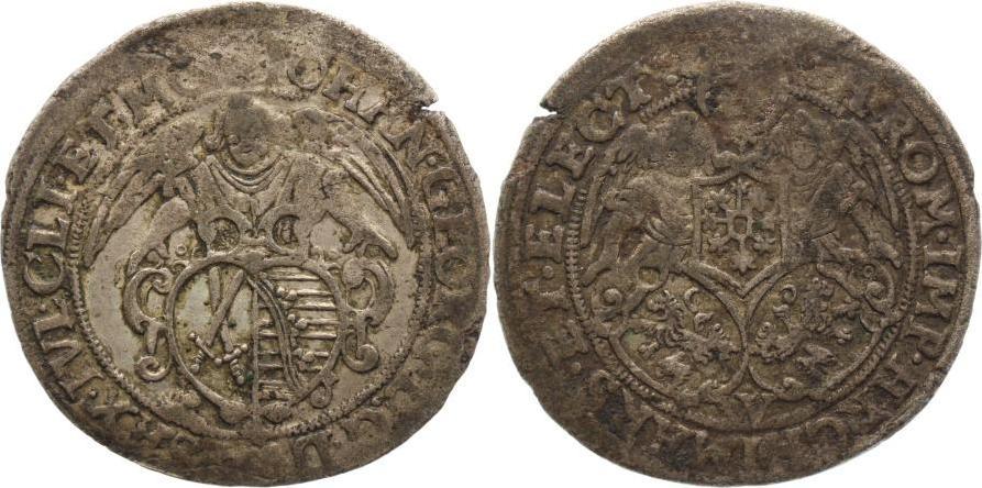 24 Kreuzer 1615-1656 Sachsen-Albertinische Linie Johann Georg I. 1615-1656. Schöne Patina, Schrötlingsfehler, sehr schön
