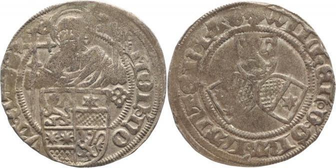 1483-1493 Hessen Wilhelm I. 1483-1493. Schöne Patina, fast sehr schön