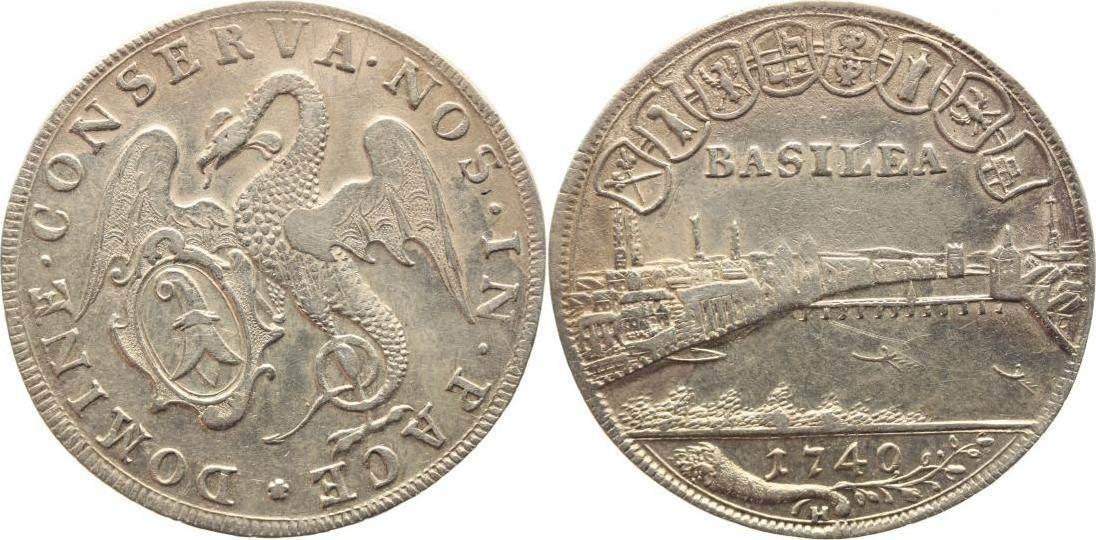 1/4 Taler 1740 H Schweiz-Basel, Stadt Gutes sehr schön