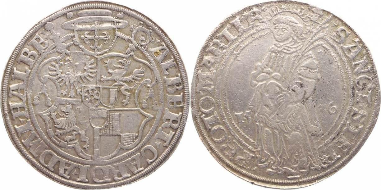 Taler 1536 Halberstadt-Bistum Albrecht von Brandenburg 1513-1545. Selten, min.Korrodiert, sehr schön