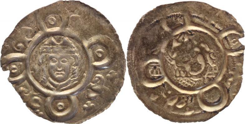 1184-1202 Augsburg-Bistum Udalschalk von Eschenlohe 1184-1202. Schöne Patina, Randfehler, sehr schön