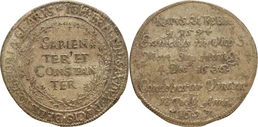Sterbegroschen 1627 Sachsen-Alt-Weimar Wilhelm und seine 4 Brüder 1626-1640. Schöne Patina, sehr schön