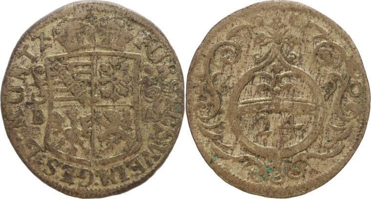 Groschen 1690 BA Sachsen-Neu-Weimar Wilhelm Ernst 1683-1728. Schön-sehr schön