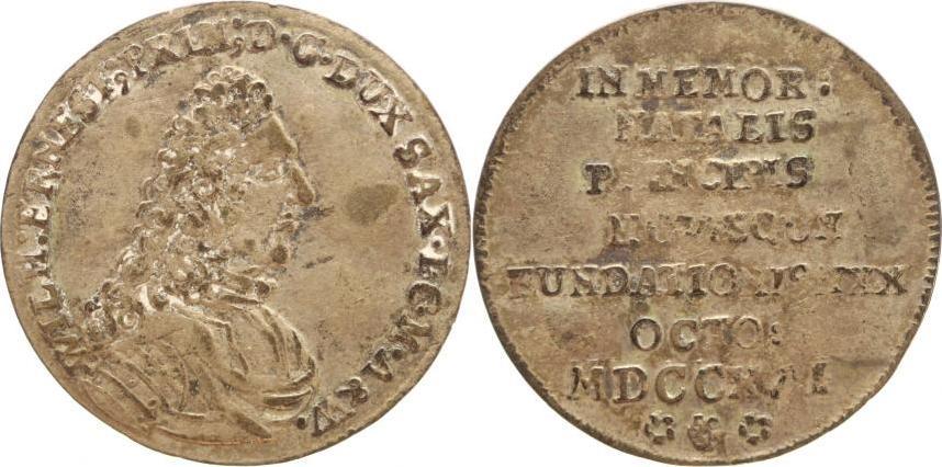 Breiter Groschen 1717 Sachsen-Neu-Weimar Wilhelm Ernst 1683-1728. Selten, sehr schön
