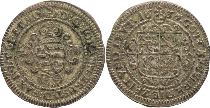 Spruchgroschen 1637 Sachsen-Alt-Gotha (Coburg-Eisenach) Johann Ernst 1633-1638. Sehr schön+