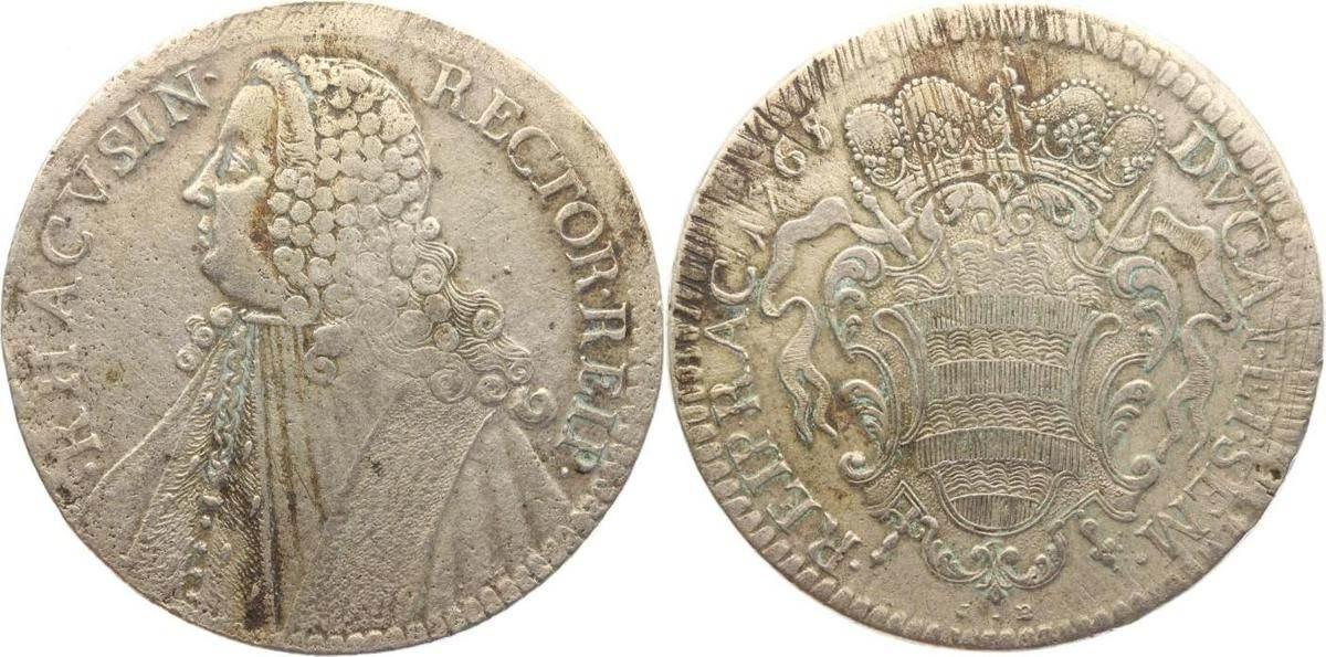 Rektoratstaler 1765 Ragusa (Dubrovnik) Republik 1358-1805. Justiert, Fundspuren, sehr schön
