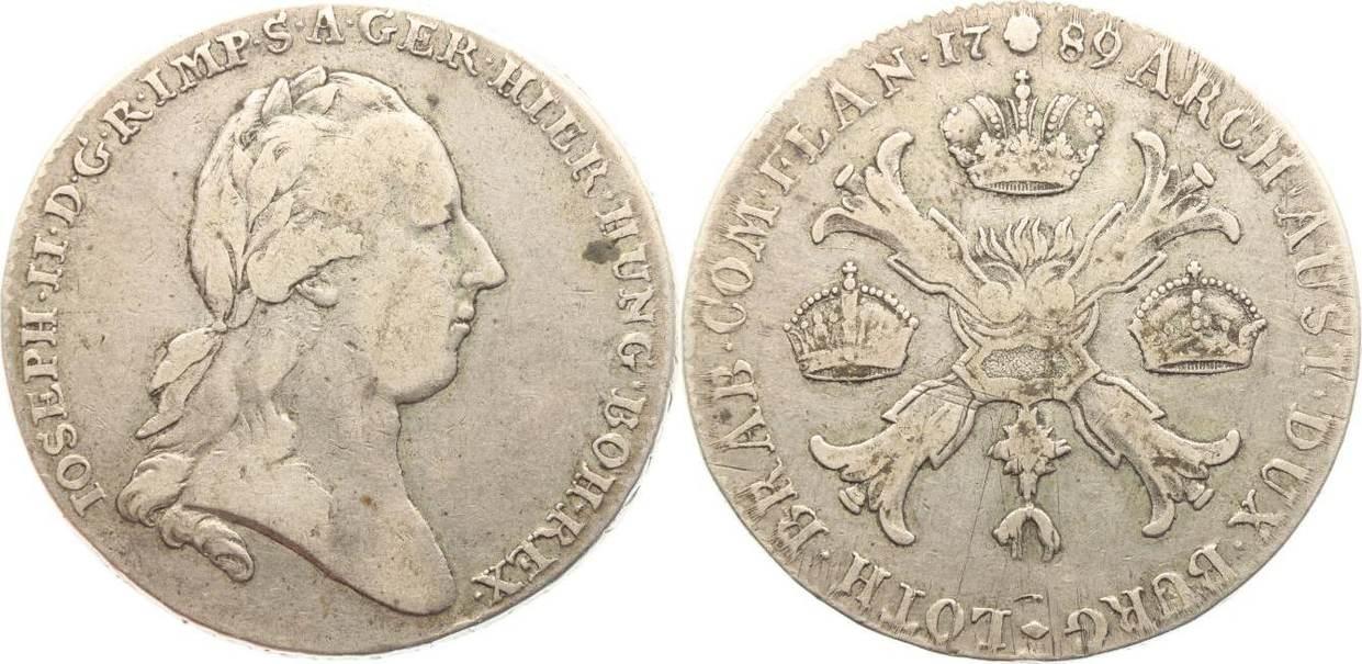 Kronentaler 1789 Haus Habsburg Josef II. 1764-1790. Min.Justiert, sehr schön