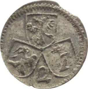 2 Pfennig 1728-1754 Schweiz-Chur, Bistum Joseph Benedikt von Rost 1728-1754. Zainende, sehr schön