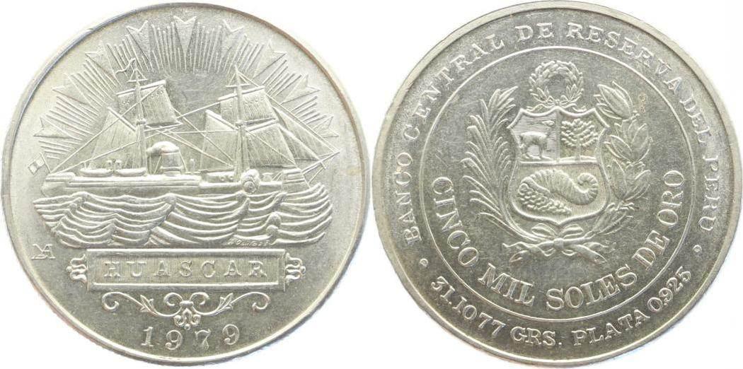 5000 Soles 1979 Peru Republik 1900-2000. Vorzüglich