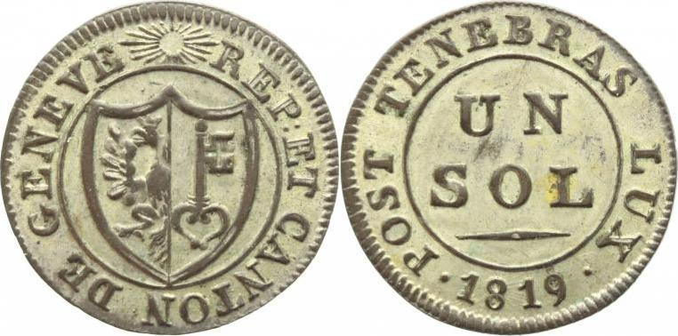 Sol 1819 Schweiz-Genf, Stadt Vorzüglich+