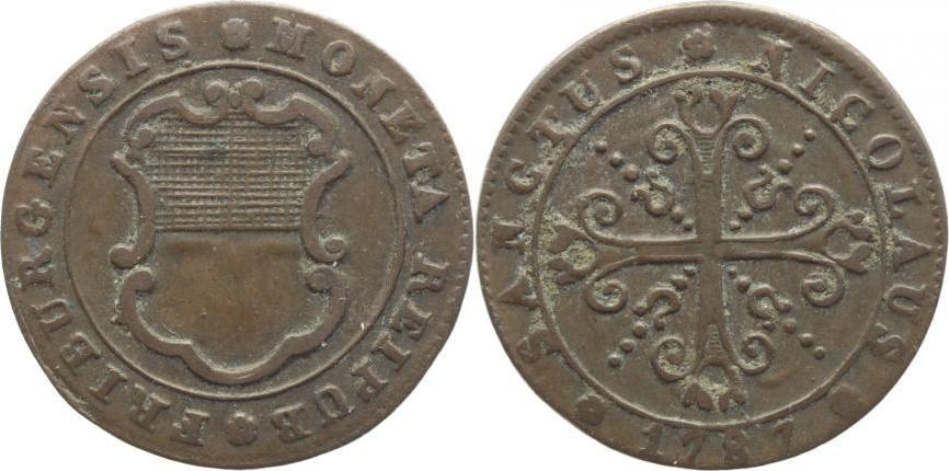 1 Kreuzer 1787 Schweiz-Freiburg Sehr schön