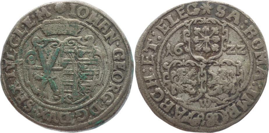 8 Groschen 1615-1656 Sachsen-Albertinische Linie Johann Georg I. 1615-1656. Sehr schön