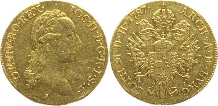 Dukat Gold 1787 A Haus Habsburg Josef II. 1764-1790. winz. Randfehler, winz. Kratzer, sehr schön