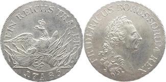 Taler 1786  A Brandenburg-Preußen Friedrich II. 1740-1786. Winz. Kratzer, vorzüglich-prägefrisch