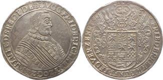 Reichstaler 1646  LW Braunschweig-Lüneburg-Celle Friedrich von Celle 1636-1648. Schöne Patina, vorzüglich