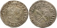Regensburg-Bistum 1/2 Batzen Johann III. von Pfalz-Simmern 1507-1538.