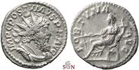 Postumus Antoninianus - Fortuna seated left - Very Rare - Elmer 384