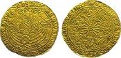 Rose Noble (Ryal) Gold 1464 Großbritannien Edward IV., First Reign 1461-1470. Sauber gestopftes Loch, sehr schön - vor