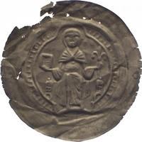Brakteat 1184-1203 Quedlinburg, Abtei Agnes von Meissen 1184-1203. Leichter Randausbruch, sehr schön - vorzüglich