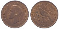 Neuseeland Penny George VI. 1936-1952.