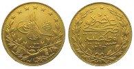 Türkei 100 Piaster Gold Abdul Hamid II. (AH 1293-1327) 1876-1909.