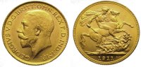 Australien Pound Gold Georg V. 1910-1936.
