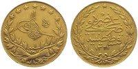 Türkei 100 Piaster Gold Muhammad V. (AH 1327-1336) 1909-1918.