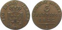 Brandenburg-Preußen Cu 3 Pfennig Friedrich Wilhelm III. 1797-1840.