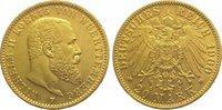 Württemberg 20 Mark Gold Wilhelm II. 1891-1918.