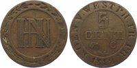 Westfalen, Königreich Cu 5 Centimes Hieronymus Napoleon 1807-1813.