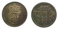 Mecklenburg-Schwerin 3 Pfennig Friedrich Franz I. 1785-1837.
