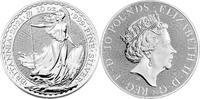 Großbritannien Royal Mint Britannia 10 oz Silbermünze Erste 10 Unzen Britannia 10 Pound 2021 Stempel