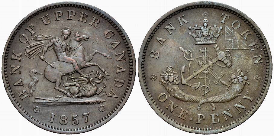 Penny 1857 KANADA  Sehr schön