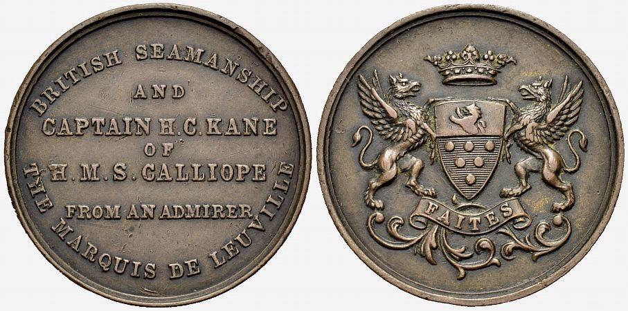 Bronzemedaille 1889 GROSSBRITANNIEN Schifffahrt Sehr schön