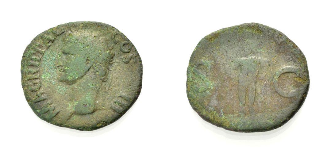 AE As 37-41 ROM, KAISERZEIT AGRIPPA, POSTUM Schön