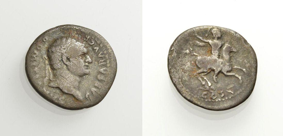 AR Denar 77-78 ROM, KAISERZEIT DOMITIANUS CAESAR Schön