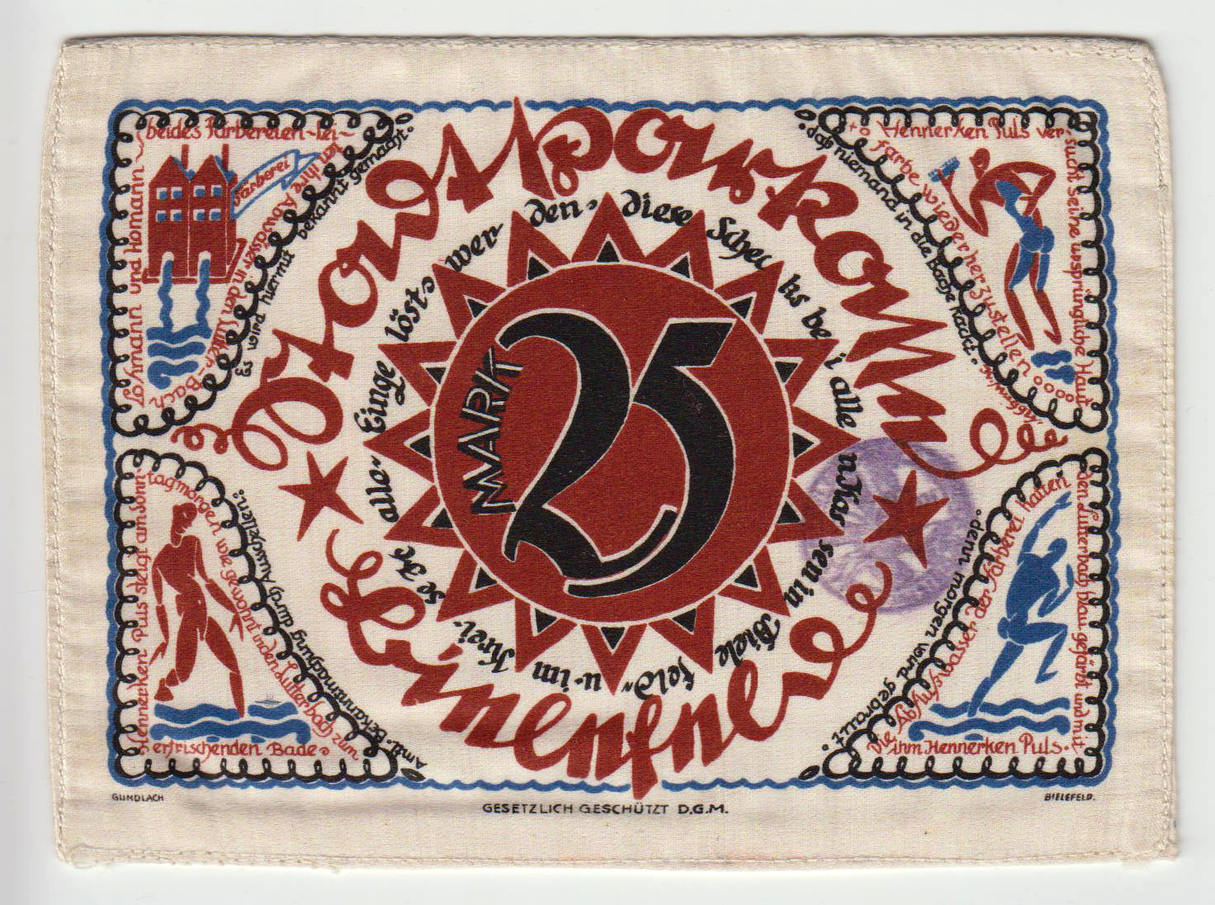 25 Mark 1921 BIELEFELD Seide kassenfrisch