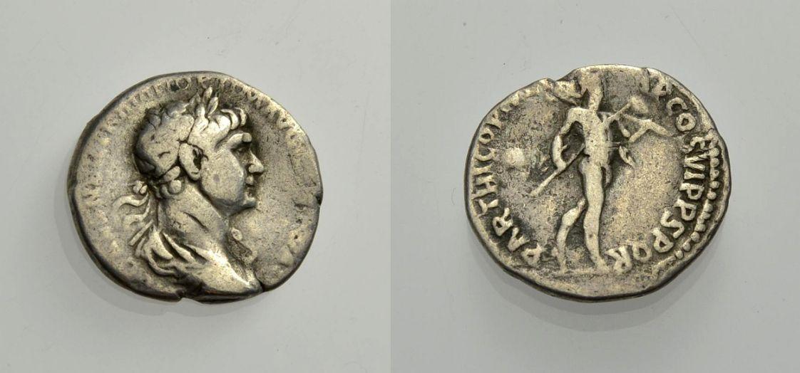 AR Denar 113-114 ROM, KAISERZEIT TRAJANUS Schön