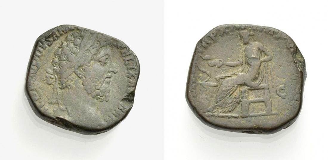 AE Sesterz 185-186 ROM, KAISERZEIT COMMODUS Sehr schön