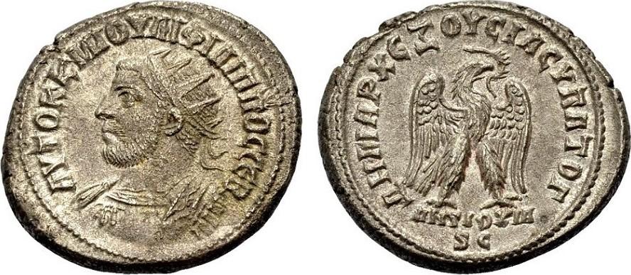 Billon-Tetradrachmon 247 GRIECHISCHE MÜNZEN UNTER ROM ANTIOCHIA AM ORONTES: PHILIPPUS I. ARABS Vorzüglich