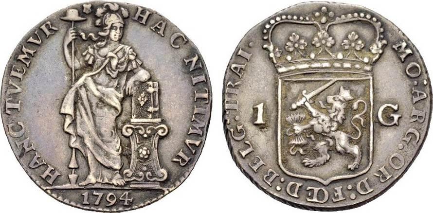 Gulden 1794 NIEDERLANDE UTRECHT, PROVINZ Sehr schön