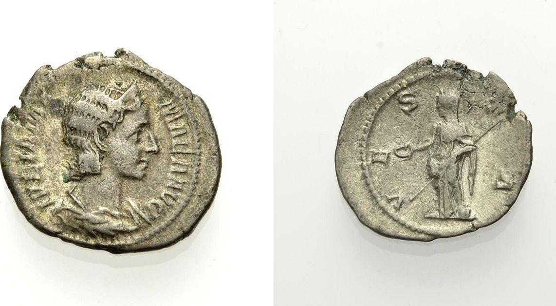 AR Denar vor 235 ROM, KAISERZEIT IULIA MAMAEA, MUTTER DES SEVERUS ALEXANDER Knapp sehr schön