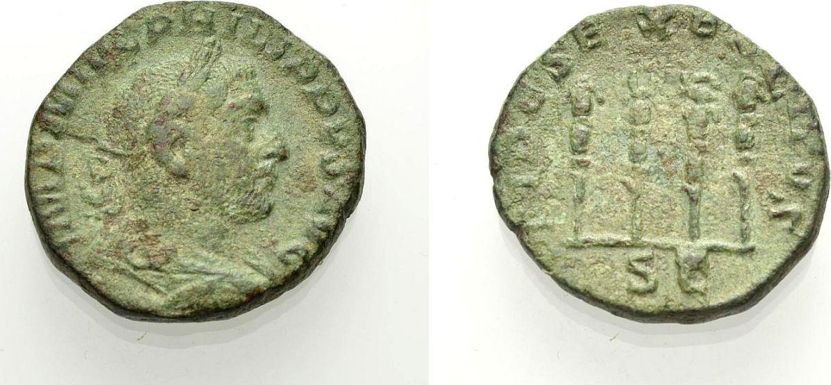 As 244-249 ROM, KAISERZEIT PHILIPPUS I. ARABS Knapp sehr schön