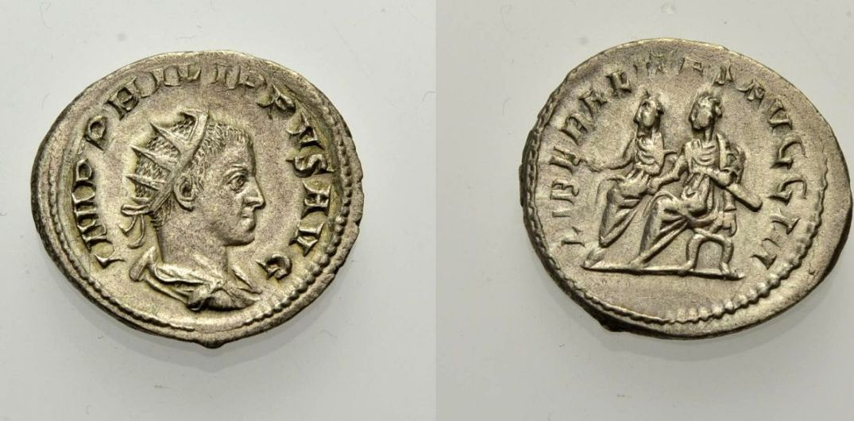AR Antoninian 244-246 ROM, KAISERZEIT PHILIPPUS II. Knapp vorzüglich