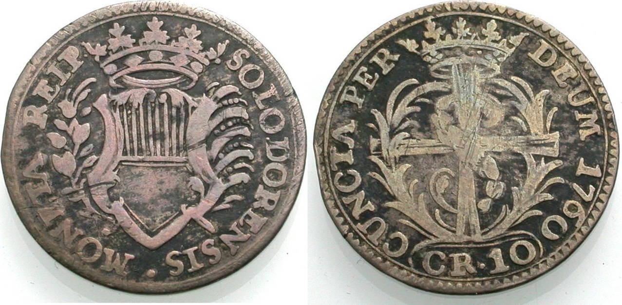10 Kreuzer 1760 SOLOTHURN Schön